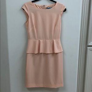 Antonio Melani Peach Peplum Dress
